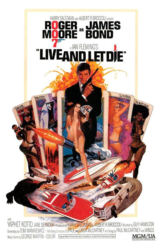 James Bond 007 Live And Let Die Poster
