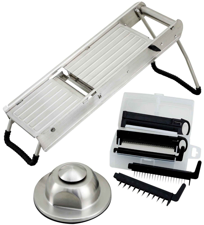 Mandolina de acero inoxidable cortadora vegetales winco for Mandolina utensilio de cocina