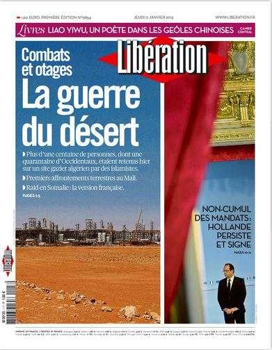 Libération Jeudi 17 janvier 2013