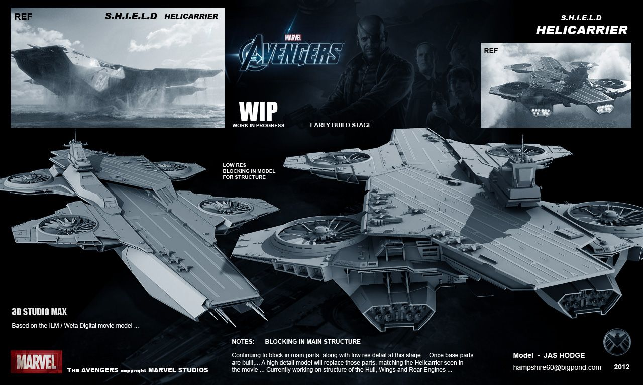 triton world shield helicarrier of marvel avengers